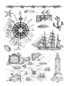Viva Decor Clear Silicone A5 Stamp Set - Seaside - 4003 019 00